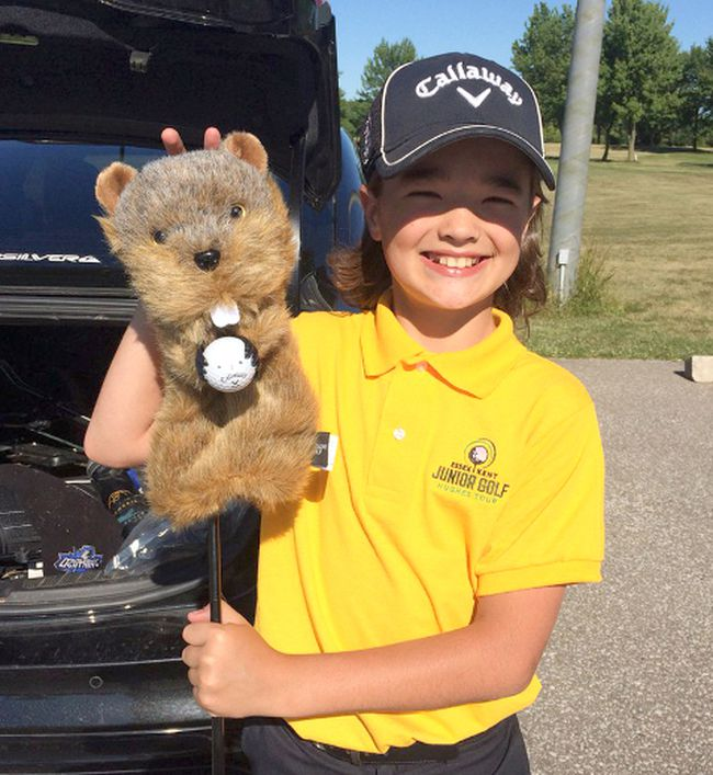 Zach Thompson, 12, of Chatham poses with a golf club. Diagnosed with juvenile arthritis, Zach will be the host for a golf tournament to raise awareness and funds for the medical condition. Handout/Postmedia Network