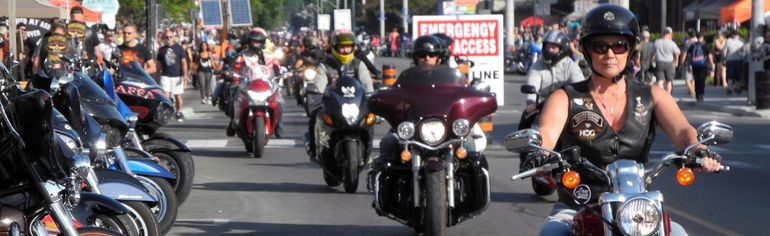 As of noon on Friday more than 140,000 people had gathered in Port Dover for the community's Friday the 13th motorcycle rally. That's the highest number of attendees in the 37-year history of the event. Officials had earlier estimated as many as 200,000 people would make their way to the lakeside town. MONTE SONNENBERG/Simcoe Reformer