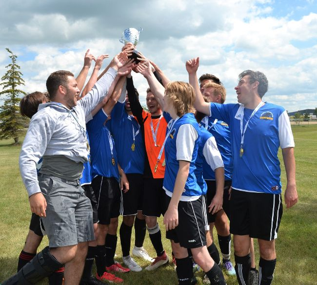 The Lacombe U19 Panthers took their second straight provincial title this past weekend. (Photo supplied)