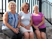 Tina Peplinskie / Daily Observer : Area residents (from left) Pam Behnke-Van Hoof of Petawawa, Liz Cobb of Cobden and Joanne Duquette of Petawawa are preparing to participate in the Pan Pacific Master Games in Australia as members of the Ontario Strong ladies fastball team competing in the 45-plus open division.