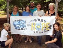 Sean Chase/Daily Observer The Women Walking for Hope will be hosting the Amazing Community Challenge at the Petawawa Heritage Village on Saturday, Aug. 25. In the photo are (left to right) Grace Gendron, event co-ordinator Lesley Buckingham, event co-ordinator Jeris Chalmers-Wein, Morgan Finley, Connor Bennett, Petawawa Heritage Society president Ann McIntyre, and Sydney Robinson.