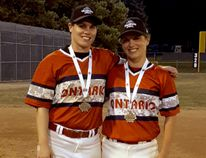 <p>Sisters Jenna Flannigan (left) and Amber Flannigan, gold medallists with Team Ontario at the 2018 Women's National Baseball Championships. </p><p> Handout/Cornwall Standard-Freeholder/Postmedia Network