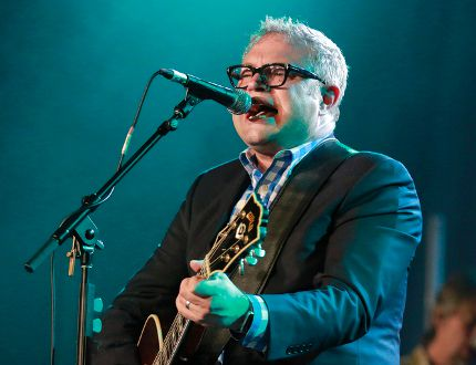 Canadian musician Steven Page is shown performing this month in Calgary. He is set to speak and perform Oct. 9 at Sarnia's Imperial Theatre during an event about mental health organized by The Giving Company. (File photo)