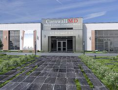 <p>Handout/Cornwall Standard-Freeholder/Postmedia Network</p><p> An architectural rendering of the proposed medical building on McConnell Avenue in Cornwall that will be retrofitted from the old Gladstone Public School.