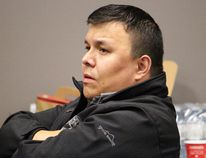 Ron Quintal, president of the Fort McKay Metis and a spokesperson for the grassroots Rural Coalition, listens to Wood Buffalo's mayoral candidates speak during a debate at the Unifor 707A hall in downtown Fort McMurray, Alta. on Monday, October 2, 2017. Vincent McDermott/Fort McMurray Today/Postmedia Network