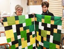 Michelle and Nikki were part of a group of local quilters who created and donated quilts to people involved in the Humboldt tragedy. Quilts were given to two CanWest pilots and two Advanced Paramedic Ltd. (APL) paramedics who assisted on the night of the April 6 collision.