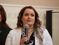 Wood Buffalo Housing and Development board chair Maggie Farrington speaks at a press conference at the Rotary House Seniors Lodge in Fort McMurray, Alta. on Friday, May 5, 2017. Cullen Bird/Fort McMurray Today/Postmedia Network