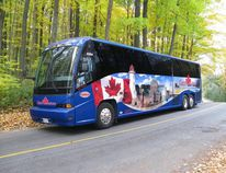 ParkBus coaches, such as this one used for Algonquin Park in Ontario, will be used to transport people on round trips between Elk Island National Park and Edmonton, starting at the end of the month. File Photo