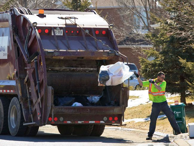 Garbage pickup in Ottawa