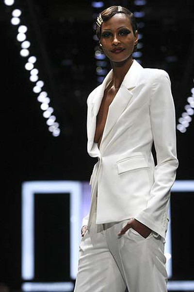 Model Yasmin shows off a look from the Attitude by Jay Manuel Fall Winter collection during LG Fashion Week in Toronto on March 30, 2011. (Stan Behal/QMI Agency)