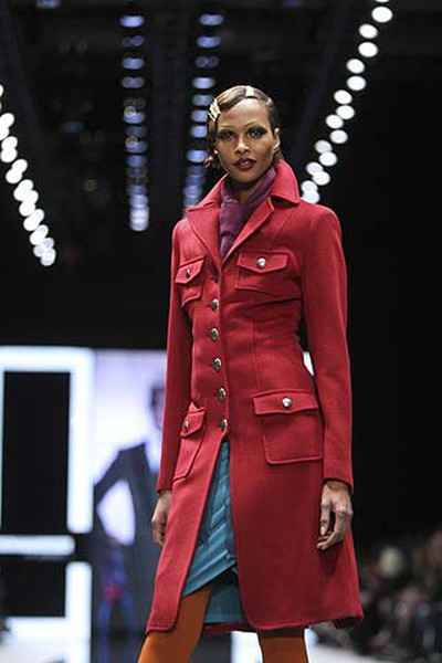 A model shows off a look from the Attitude by Jay Manuel Fall Winter collection during LG Fashion Week in Toronto on March 30, 2011. (Stan Behal/QMI Agency)