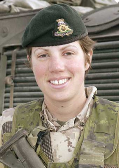 Capt. Nichola Goddard, May 17, 2006: Canada's first female fighting soldier to die by enemy fire, the 26-year-old officer was killed while working as a forward observer. She was from Calgary, and her husband, Jason Beam, recalls that she was excited about the mission she was performing. Military officials had marked her for rapid advancement through the ranks. (Hand-out)