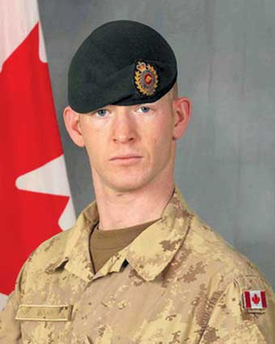 Cpl. Dustin Wasden, Aug. 20, 2008: From Spiritwood, Sask., Wasden had mused about the horrors of war in a letter he penned at the age of 14.  He followed in the footsteps of his great-uncle who died in war at the age of 20. He was described as a great joker in life and left behind a wife and five-year-old daughter. Killed at age 25 when his vehicle was hit by an improvised explosive device. (Hand-out)