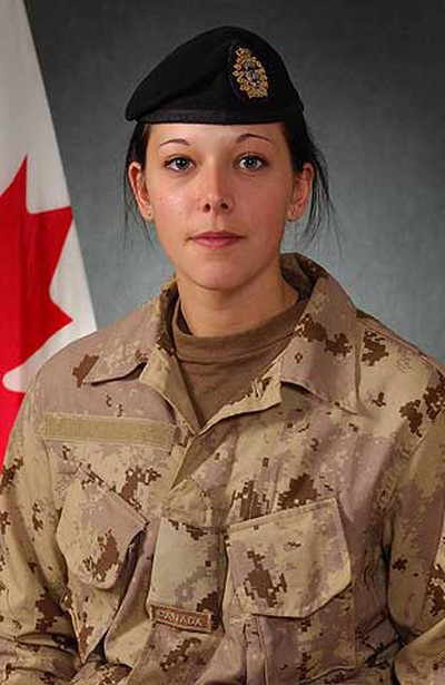 Trooper Karine Blais, April 13, 2009: Killed, and four other soldiers were wounded, when their armoured personnel carrier rolled over a roadside bomb in the Shah Wali Khot district, north of Kandahar. (HO)