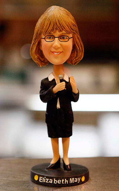 An Elizabeth May bobblehead is displayed at a local soup store in Ottawa. (Chris Roussakis/QMI Agency)