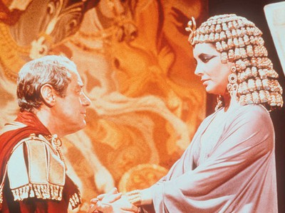A scene from the 1961 epic film Cleopatra with Rex Harrison. (Handout)