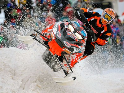 Dany Poirier is seen at the second edition of Snowcross Levis in Quebec. (BENOIT GARIEPY/QMI AGENCY