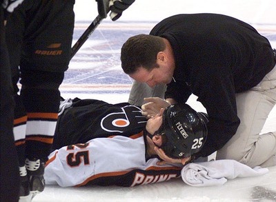 Name: Keith Primeau Retired: 2006 411: Nine games into the 2005-06 season, the rugged forward suffered a concussion which ended his season. As a result of the ongoing effects of his concussion, he officially announced his retirement in September 2006. (Reuters)