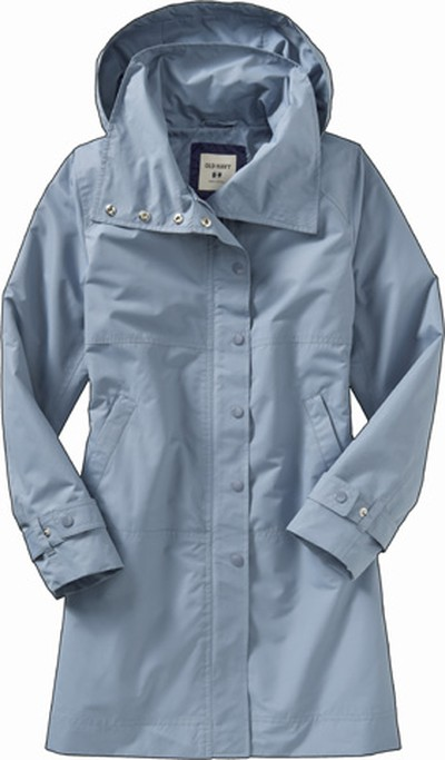 It's a trench coat hidden inside a rain coat - for those looking for something other than a belted option, this baby blue cutie ($49.50, Old Navy, oldnavy.ca) has a svelte structure, with a hood to protect from spring's nastiest elements. (Supplied)