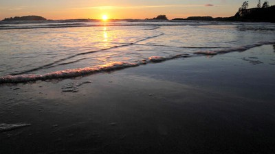 Chesterman Beach at sunset near Tofino, B.C., on Feb. 24, 2011. MIKE DREW/QMI AGENCY