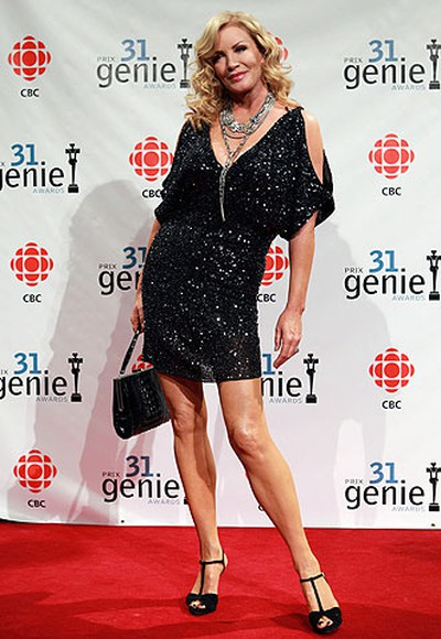 Shannon Tweed is seen on the red carpet prior to the Genie Awards at the National Arts Centre in Ottawa Thursday March 10, 2011. (TONY CALDWELL/QMI AGENCY)