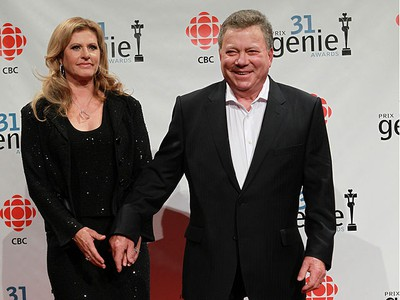 William Shatner and his wife Elizabeth pose for photos on the red carpet during the Genie Awards at the National Arts Centre in Ottawa Thursday March 10, 2011. (TONY CALDWELL/QMI AGENCY)