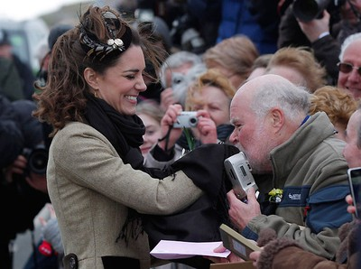 Kate Middleton meets members of the public as they attend a Naming Ceremony and Service of Dedication for the Royal National Lifeboat Institution's (RLNI) new Atlantic 85 Lifeboat, the 'Hereford Endeavour.' REUTERS/Phil Noble