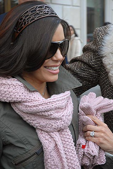 Ring: 248 diamonds - five carats in total - set in 18-karat white gold. Worn by: Eva Longoria.The impressive ring her former husband Tony Parker gave Eva features a romantic French inscription on the inside and reportedly took a painstaking 116 hours of labour to make. (Patricia Schlein/WENN.COM)