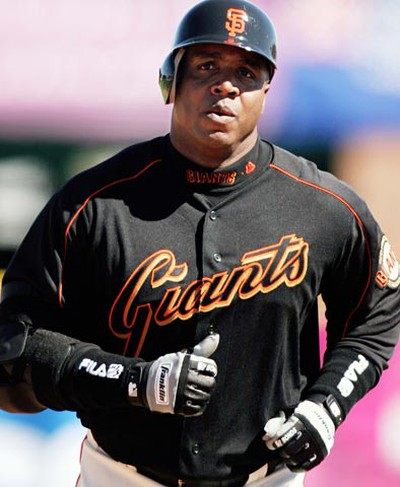 Who: Barry Bonds Retired at age:  46, but not officially retired Although his quality as a player had come in to question following the steroid scandal, Bonds has set a record of being awarded seven Most Valuable Players awards. He is also the recipient of eight Gold Gloves and is still holding several MLB records including the all-time home run record with 762 homers. In 2007, at the age of 43 Bonds had played in his last MLB game posting  a .276 batting average, 28 home runs, and 66 RBIs in 126 games and 340 at bats. In 2010, despite not having played in an MLB game since 2007, Bonds announced that it was not the right time to retire yet, but if any club had expressed interest in him, he would not be ready to play immediately. (REUTERS)