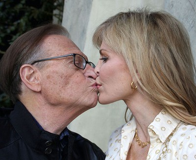 Larry King and wife Shawn Southwick at a Super Bowl XLIII Viewing Party in Beverly Hills on Jan 2., 2009. (WENN.COM file photo)