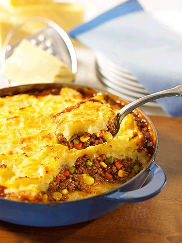A Sultry sirloin gratin served in ramekins ups the sophistication on a dish that works as Shepherd's Pie for the kids. (Courtesy of the Beef Information Centre)