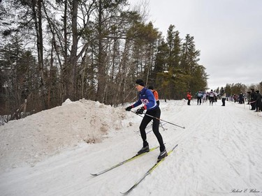 The Sandilands Cross Country Ski Race began Saturday, Feb. 5, 2011 in Sandilands Provincial Park on a freakishly warm winter day. The temperature soared to an unseaosonable high of around 0 C in Winnipeg. (ROBERT E. WILSON/For The Winnipeg Sun)