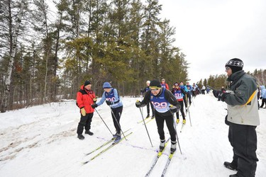 The Sandilands Cross Country Ski Race brought out athletes of all ages. (ROBERT E. WILSON/For The Winnipeg Sun)