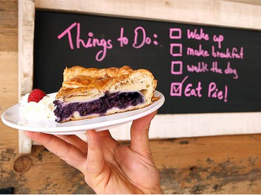 A slice of blueberry pie at The Canadian Pie Company in Toronto. (Craig Robertson/QMI Agency)