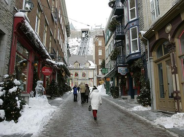 The streets of old Quebec City are all ready for the Quebec Carnival. (QMI Agency/Michael Peake)