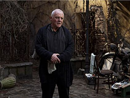 ANTHONY HOPKINS as Father Lucas in New Line Cinema's psychological thriller THE RITE.