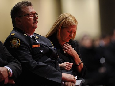 Christine Russell, widow of Toronto Police Sgt. Ryan Russell during Russell's funeral in Toronto on January 18, 2011. (NATHAN DENETTE/POOL PHOTO/QMI Agency)
