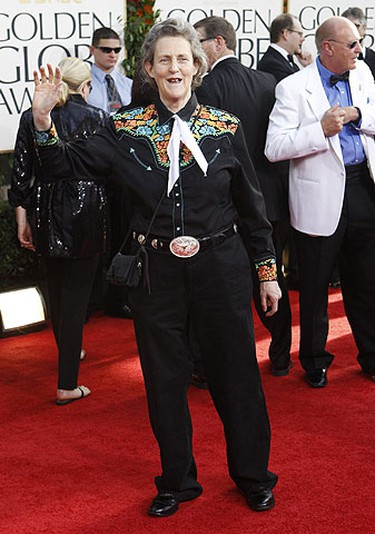 Dr. Temple Grandin arrives at the 68th annual Golden Globe Awards in Beverly Hills, California, January 16, 2011.     REUTERS/Mario Anzuoni