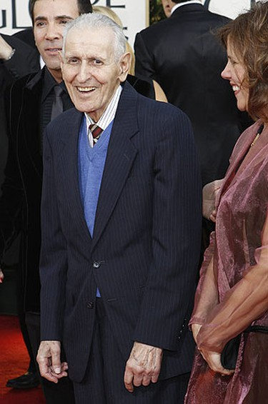 Right-to-die activist Jack Kevorkian, a former pathologist, arrives at the 68th annual Golden Globe Awards in Beverly Hills, California, January 16, 2011. REUTERS/Mario Anzuoni