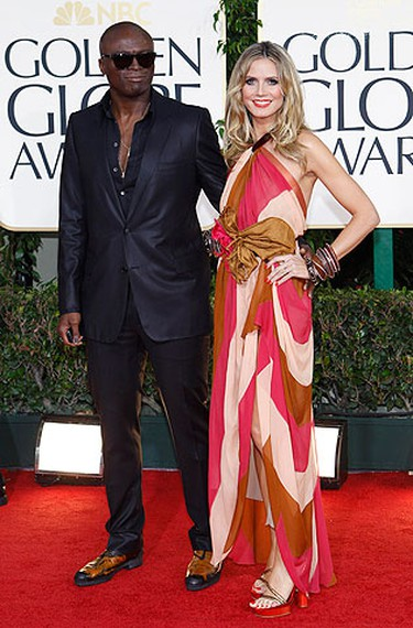 Seal and Heidi Klum arrive at the 68th annual Golden Globe Awards in Beverly Hills, California, January 16, 2011. REUTERS/Mario Anzuoni