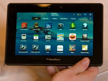 Move over iPad, the upcoming BlackBerry PlayBook tablet looks very promising. It is an insanely fast multimedia, multitasking powerhouse that can do things the iPad can't. (REUTERS/Steve Marcus)