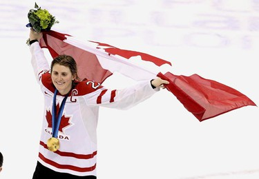 Who: Hayley Wickenheiser Success on the ice: Aside from leading Team Canada's women's hockey team to one silver and three gold medals since the 1998 Winter Olympics, she has also been awarded the Bobbie Rosenfeld Award and the Canadian Press Female Athlete of the year award in 2007. Why she walks on water: Hayley is the founder of the Hayley Wickenheiser Foundation which 'focuses on initiatives that provide resources to youth, women in sport and the environment.' He foundation currently supports KidSport, Right to Play, Dreams take Flight, Clean Air Champions and Spread the Net. (Andre Forget/QMI AGENCY)