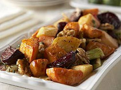 Roasted Vegetables With Walnut Vinaigrette (Supplied)