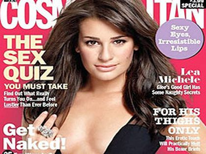 Lea Michele on the cover of the March 2011 issue of Cosmopolitan. (Handout photo)