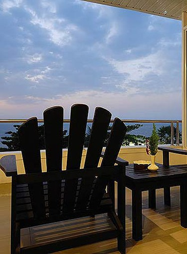Baboona Beachfront Living, Pattaya, Thailand: Enjoy views of the Pattaya beach and waterfront from your room at Baboona Beachfront Living. Many rooms are ready to welcome you with a minibar, private terrace and satellite TV programming. (Courtesy Baboona Beachfront Living)