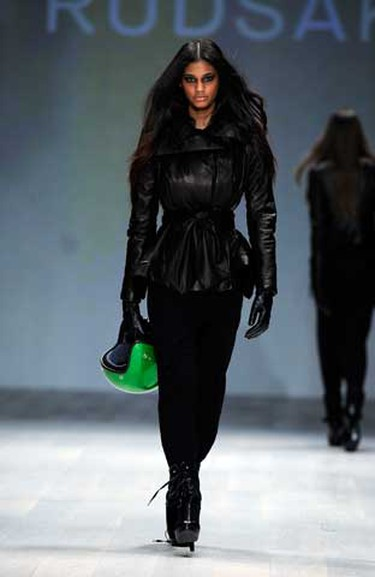 A look from the Rudsak fall winter 2011 collection during Toronto Fashion Week, Mar. 31, 2011. (Michael Peake/QMI Agency)