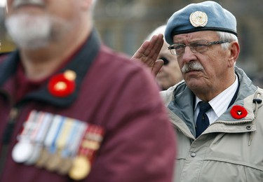 Nov 6/2010  Veterans gathered on Parliament Hill in Ottawa Sunday to protest the treatment they get from the government regarding the changes to veterans' pensions. Thirty six year veteran Michel LeMieux attended the protest Sunday.  Tony Caldwell/Ottawa Sun