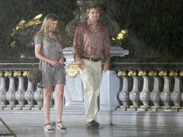 In this file photo, Lea Seydoux and Owen Wilson on the set of the movie 'Midnight in Paris' on the Alexandre III Bridge in Paris, on Aug. 11, 2010. (WENN.com)