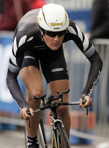 New Zealand's Michael Vink competes in the U23 individual time trial at the UCI Road Cycling World Championships in Geelong, 75km (46 miles) south west of Melbourne September 29, 2010. The Road Cycling World Championships take place from September 29 to October 3. REUTERS/Brandon Malone
