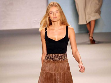 Models walk the catwalk at the Derek Lam fashion show during the Mercedes-Benz IMG New York Fashion Week Spring/Summer 2011 in New York City on Sept. 12, 2010. (D. SALTERS, WENN.com)